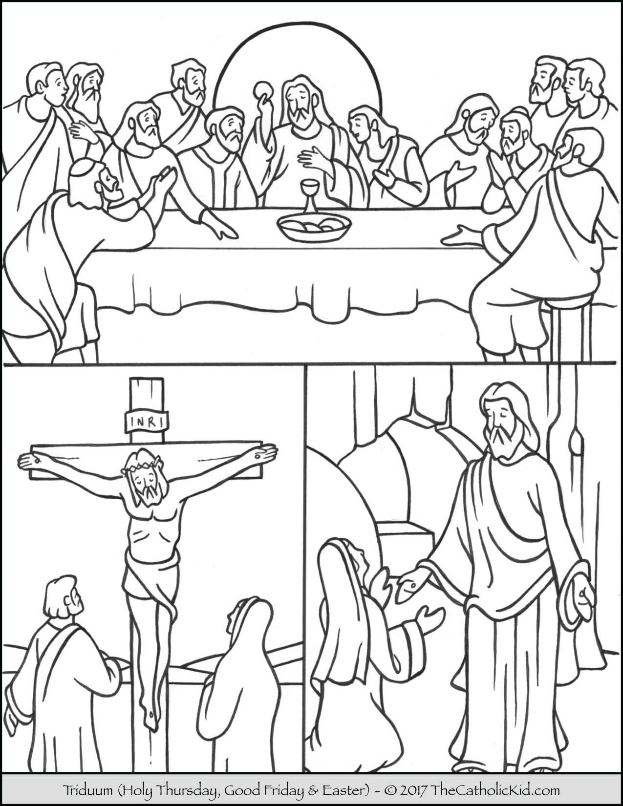 Easter Tritium Coloring Page