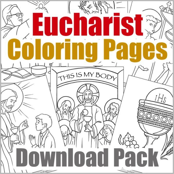 Eucharist Coloring Page Download Pack