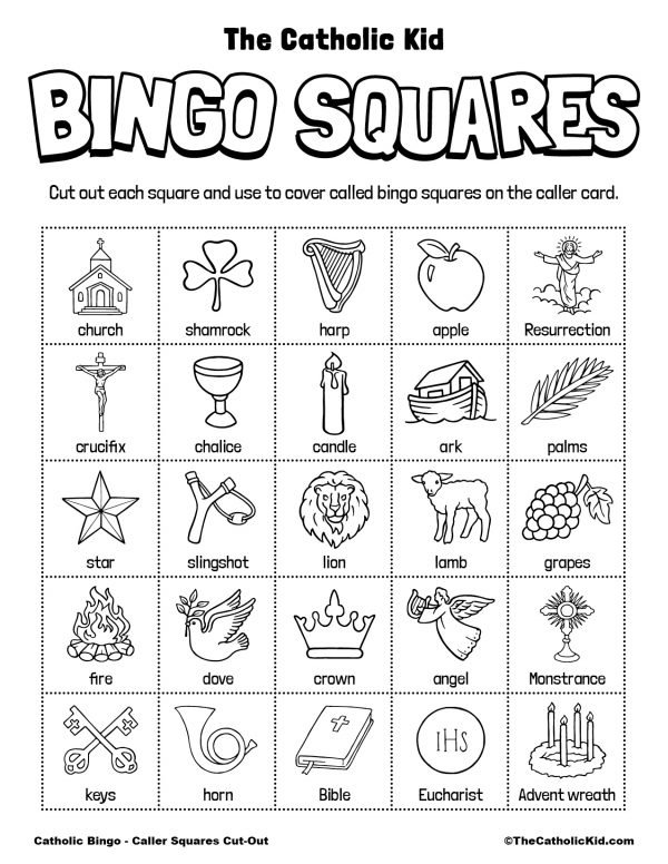 Free Printable Catholic Bingo Game