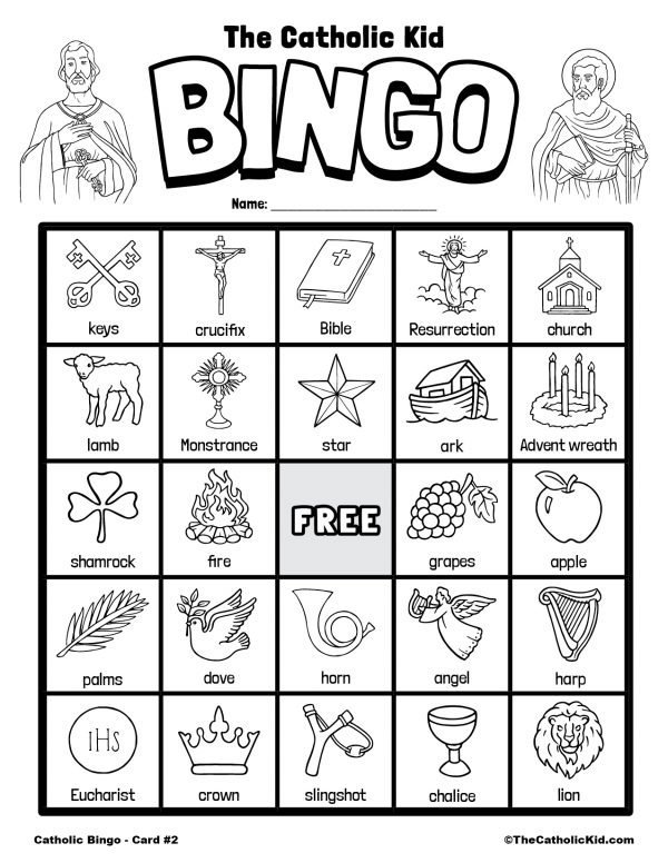 Free Printable Catholic Bingo Game Card - 2