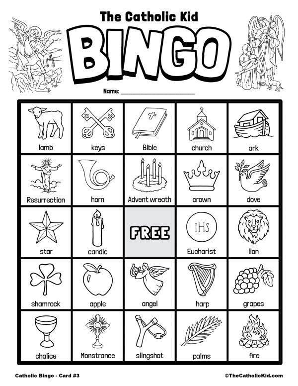 Free Printable Catholic Bingo Game Card - 3