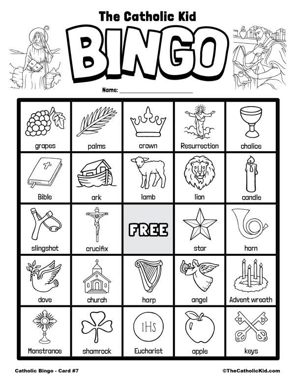 Free Printable Catholic Bingo Game Card - 7