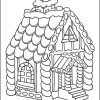 Gingerbread House Christmas Coloring Page
