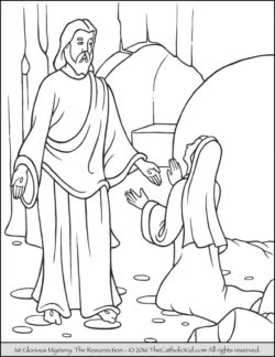 Glorious Mysteries Rosary Coloring Pages - The Resurrection