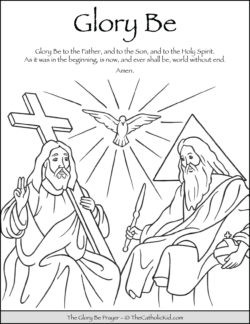 Glory Be Prayer Coloring Page