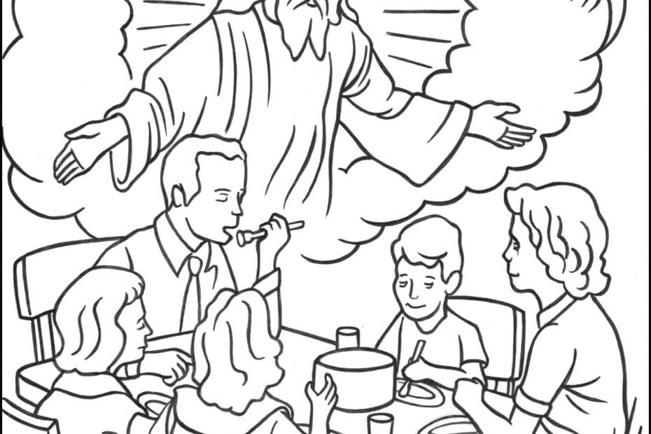 God is Omnipresent Coloring Page