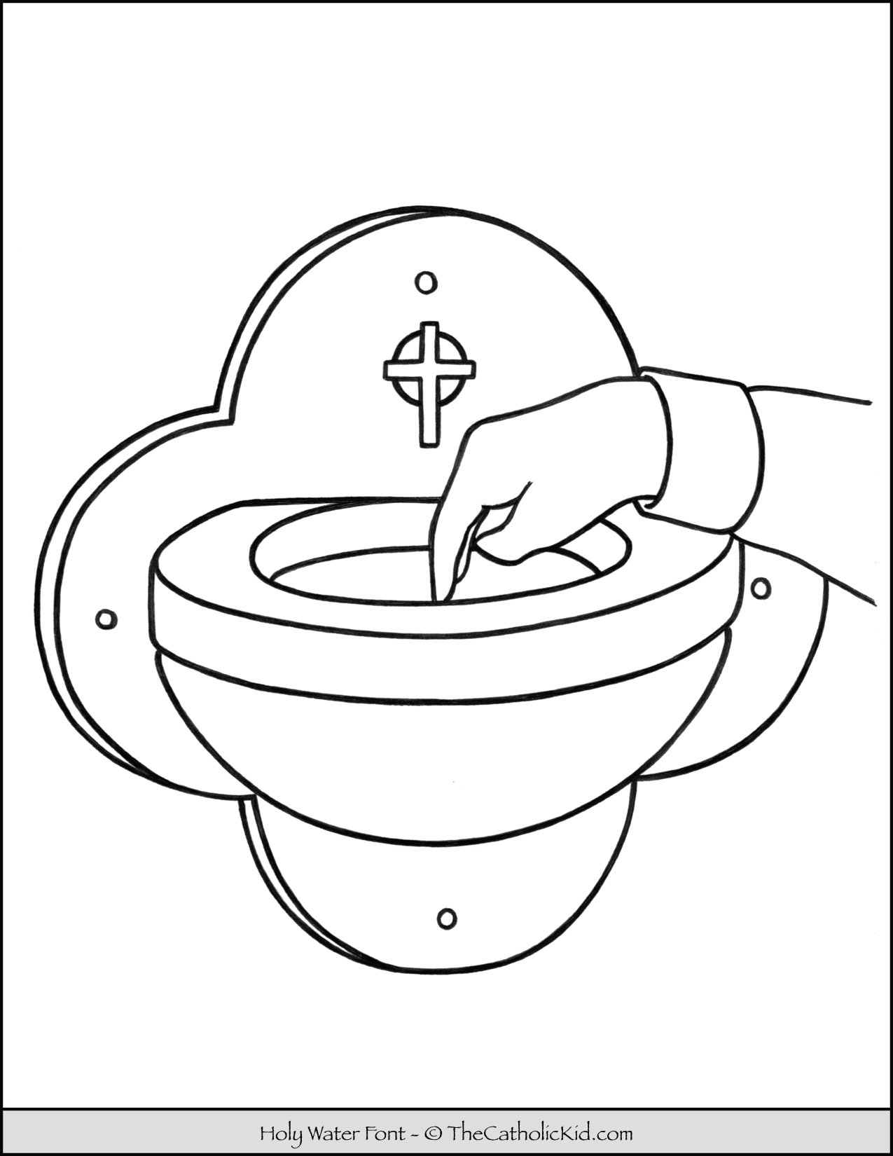 Holy Water Font Coloring Page