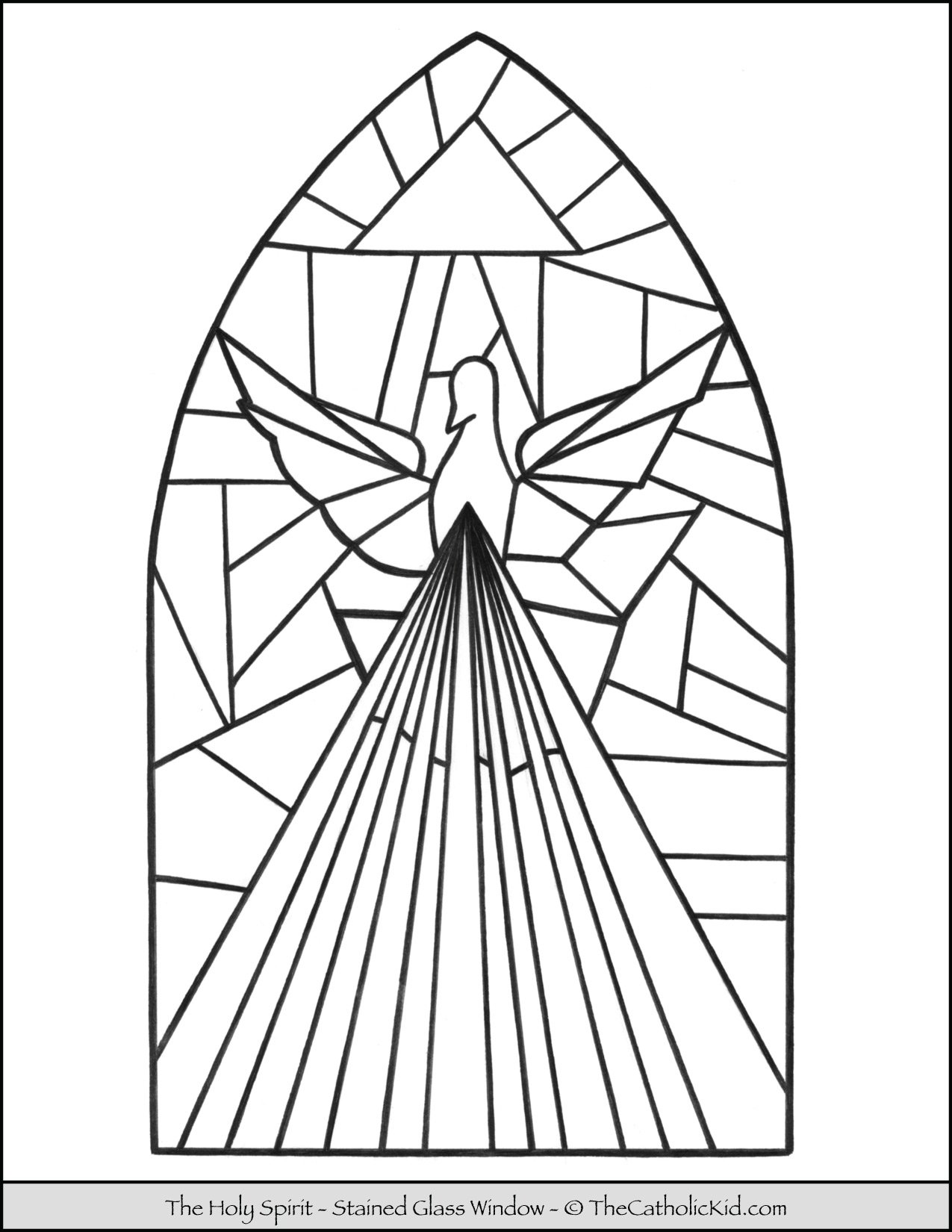 Holy Spirit Stained Glass Window Coloring Page
