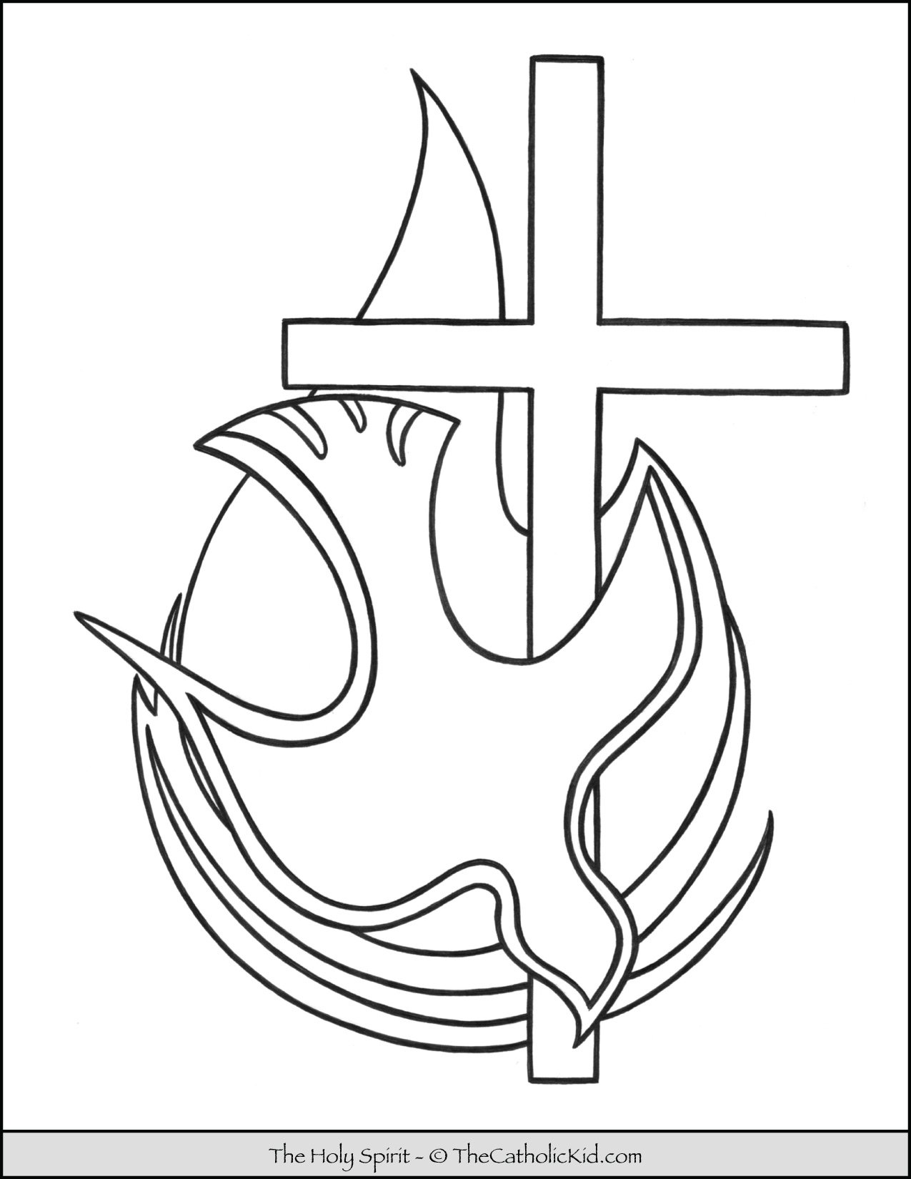 Holy Spirit Coloring Page