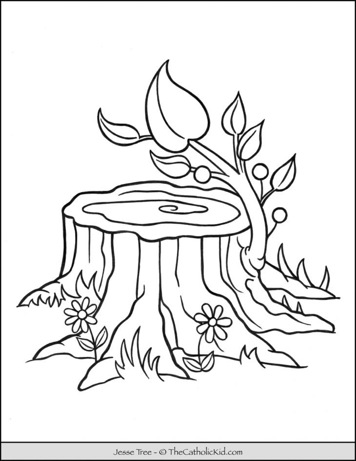 Jesse Tree Bible Coloring Page
