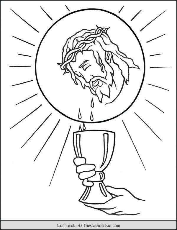 The Eucharist - Sacrament Coloring Page