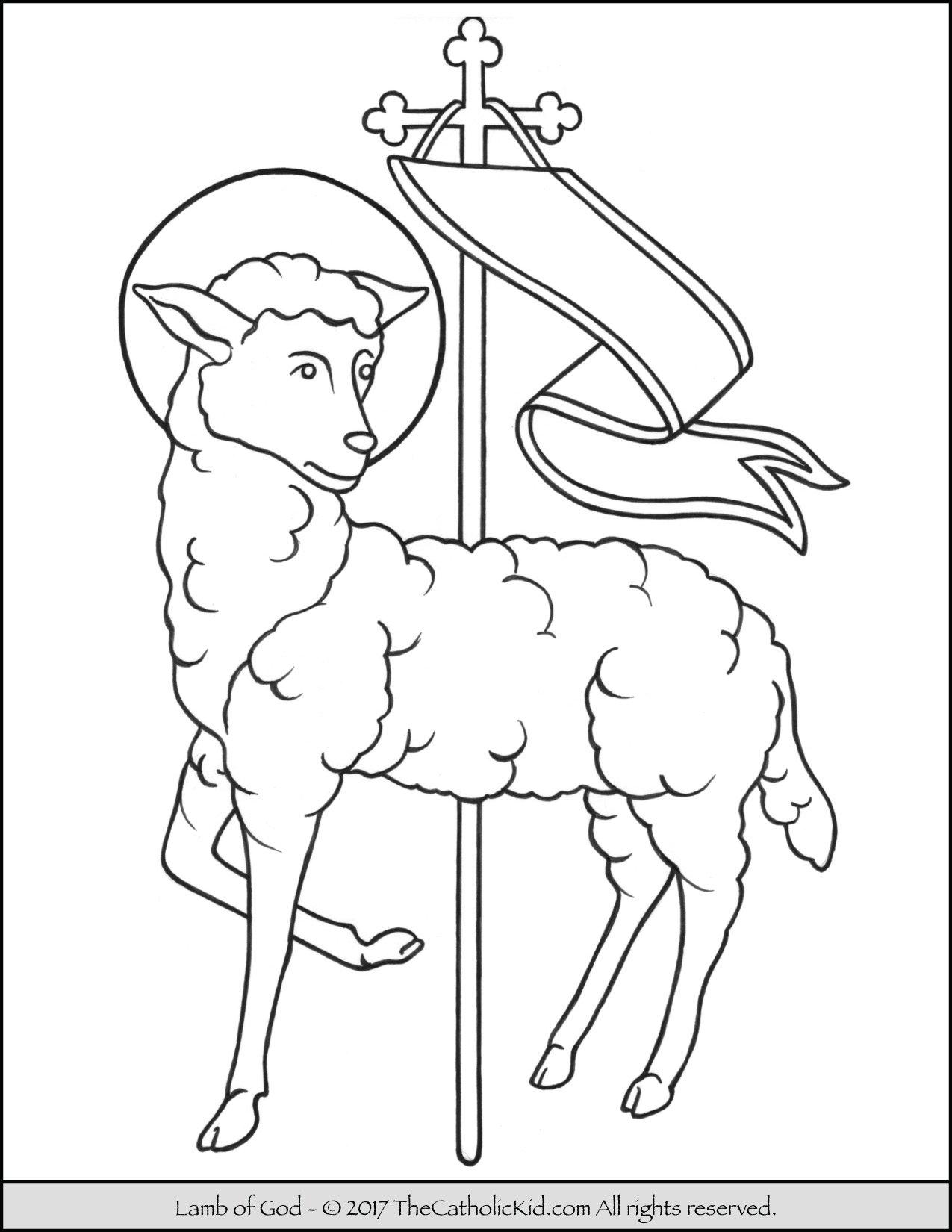 Jesus Lamb of God Coloring Page