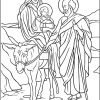 Jesus Mary Joseph Holy Family Coloring Page