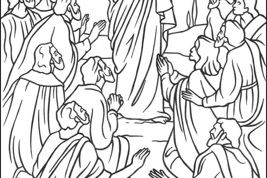 Jesus - The Great Commission Coloring Page