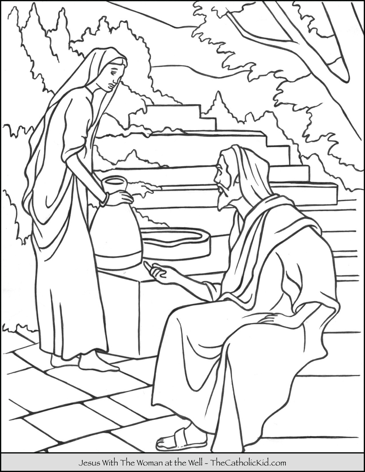 Free Printable Jesus Coloring Pages For Kids | 1650x1275