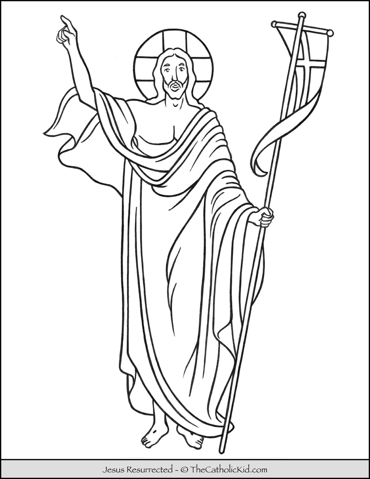 Jesus Resurrected Coloring Page