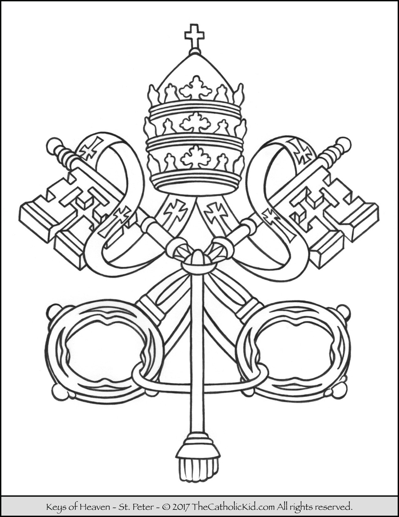 Keys of the Kingdom of Heaven Coloring Page