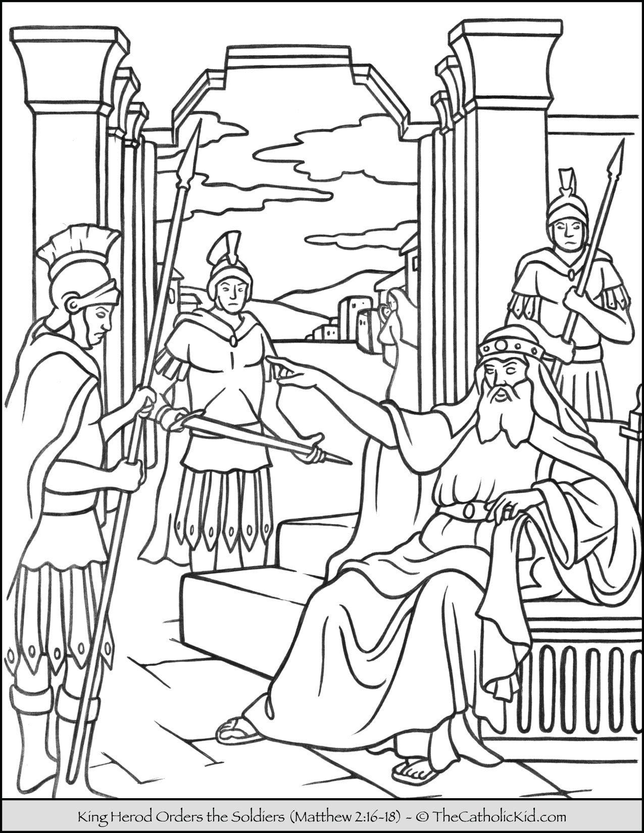 King Herod Orders the Soldiers