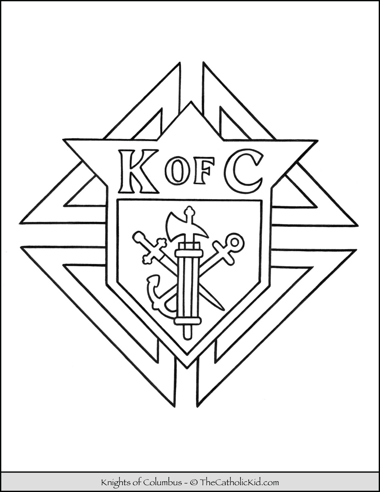 Knights of Columbus Logo Coloring Page