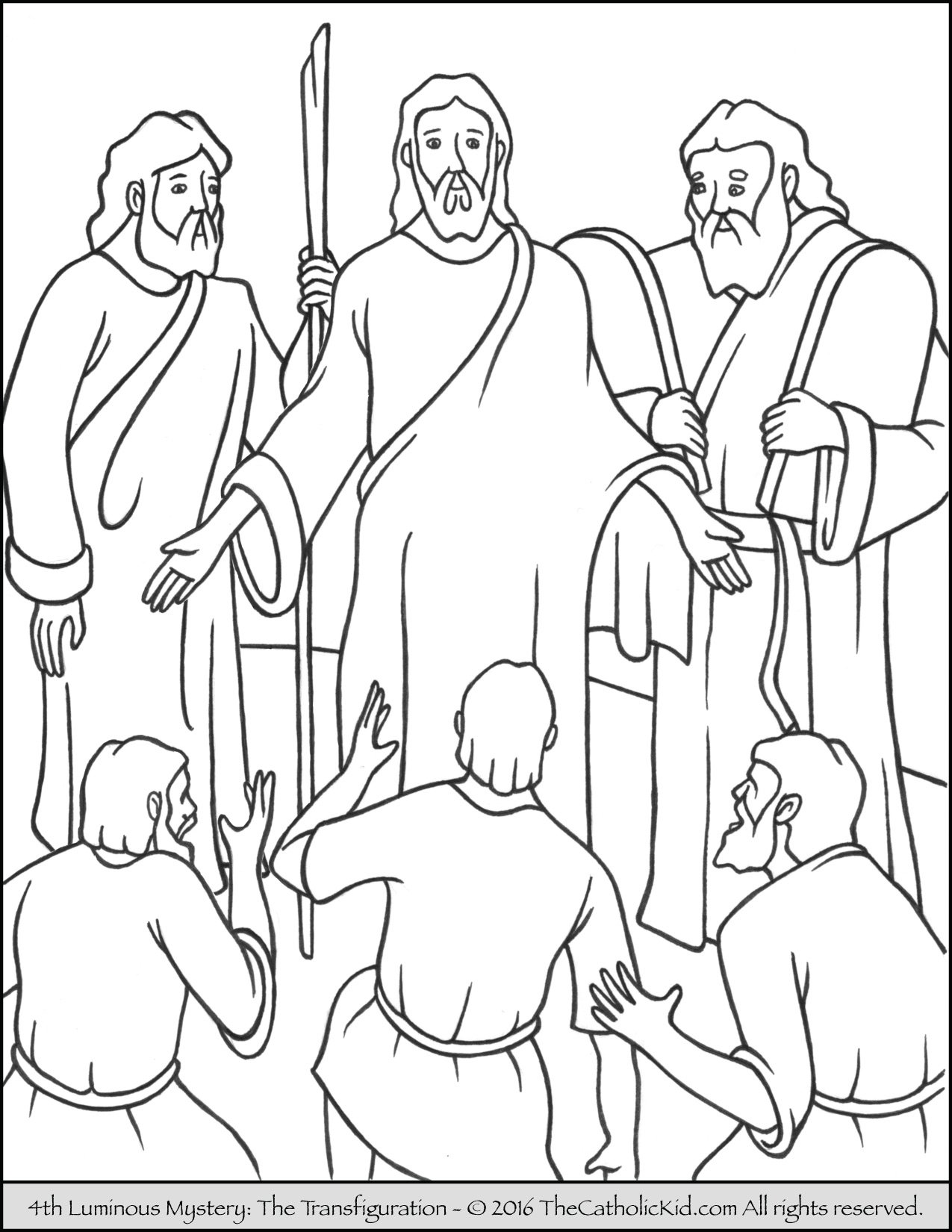Luminous Mysteries Rosary Coloring Pages - The Transfiguration