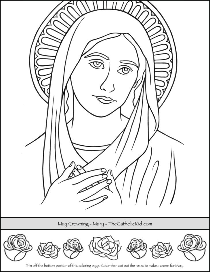 May Crowning Coloring Page