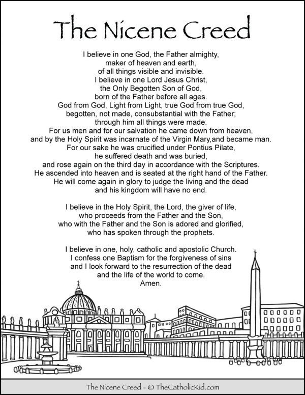 Nicene Creed Coloring Page