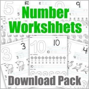 Number Worksheets - Download Pack
