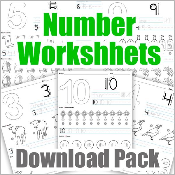 Number Worksheets Download Pack