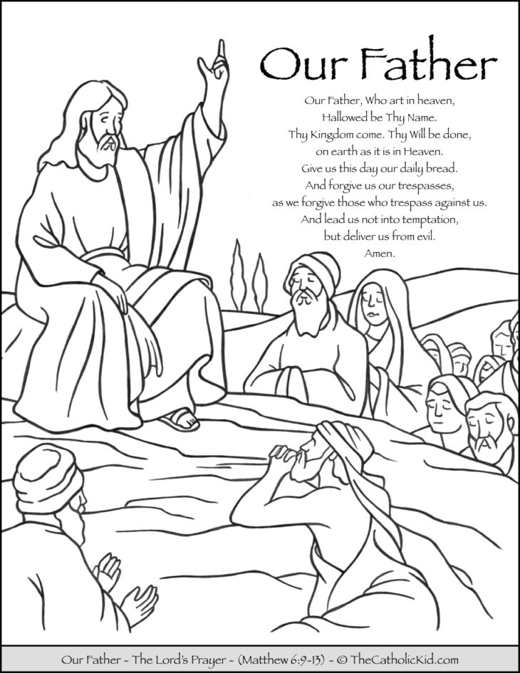 Our Father Prayer Coloring Page