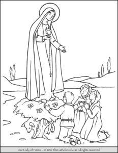 Our Lady of Fatima Coloring Page Mary