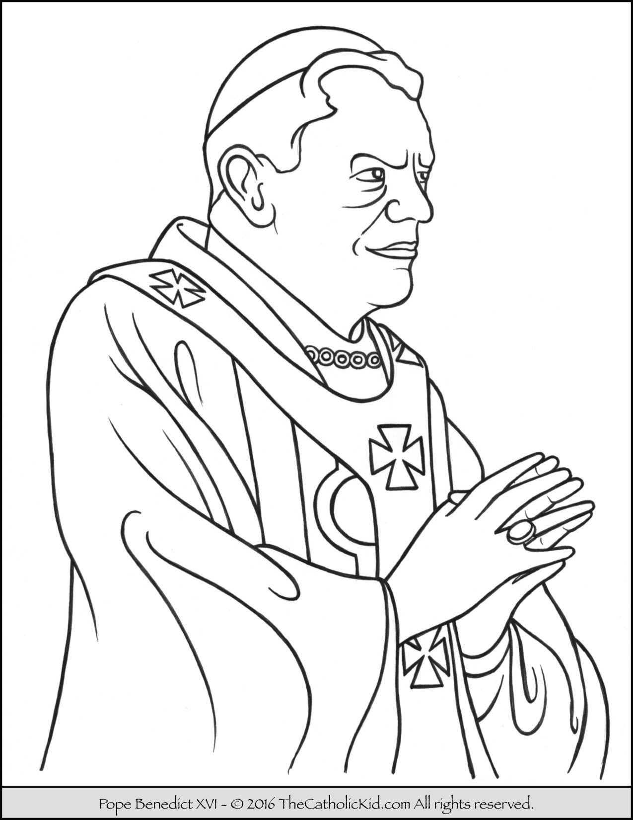 Pope Benedict XVI Coloring Page