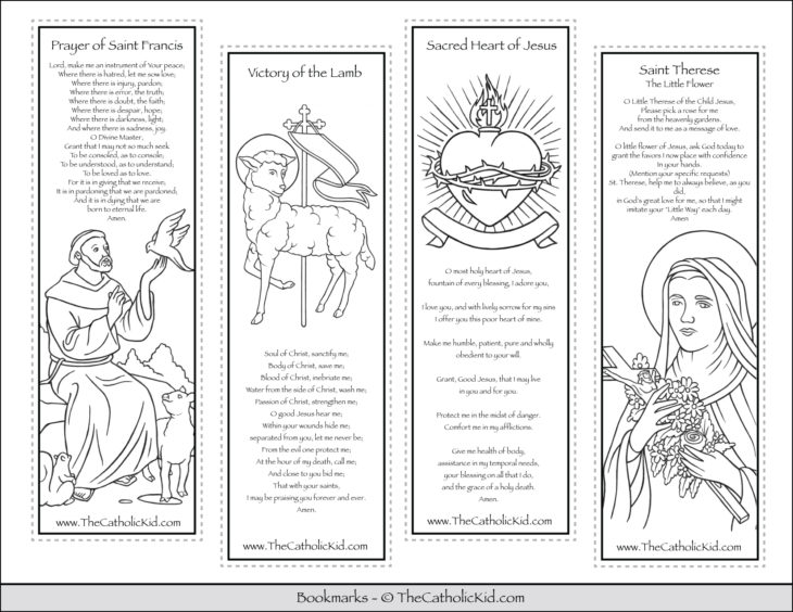 Printable Catholic Bookmarks Coloring Pages