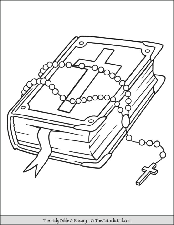 Rosary Bible Coloring Page