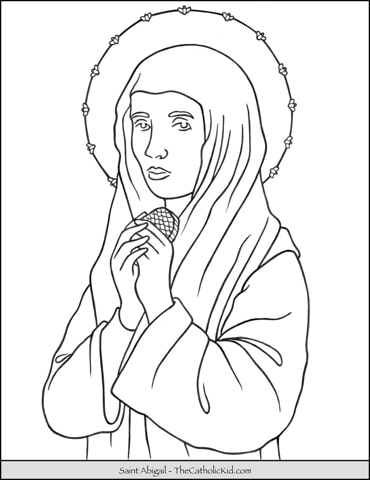 Saint Abigail Coloring Page
