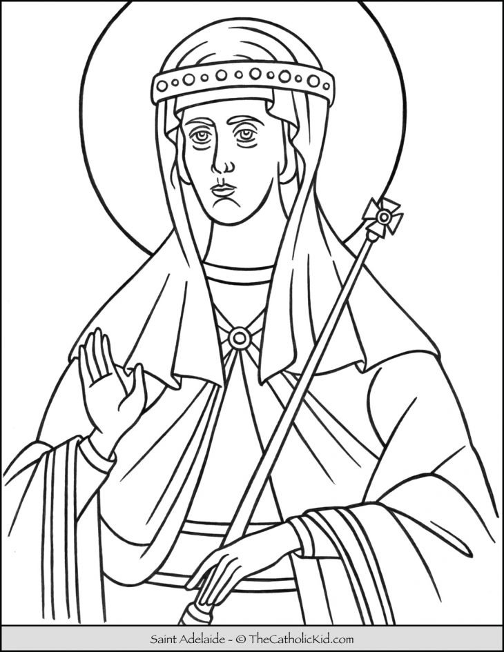 Saint Adelaide Coloring Page