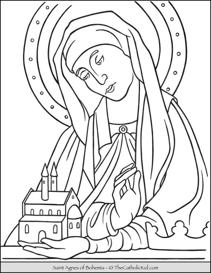 Saint Agnes of Bohemia Coloring Page