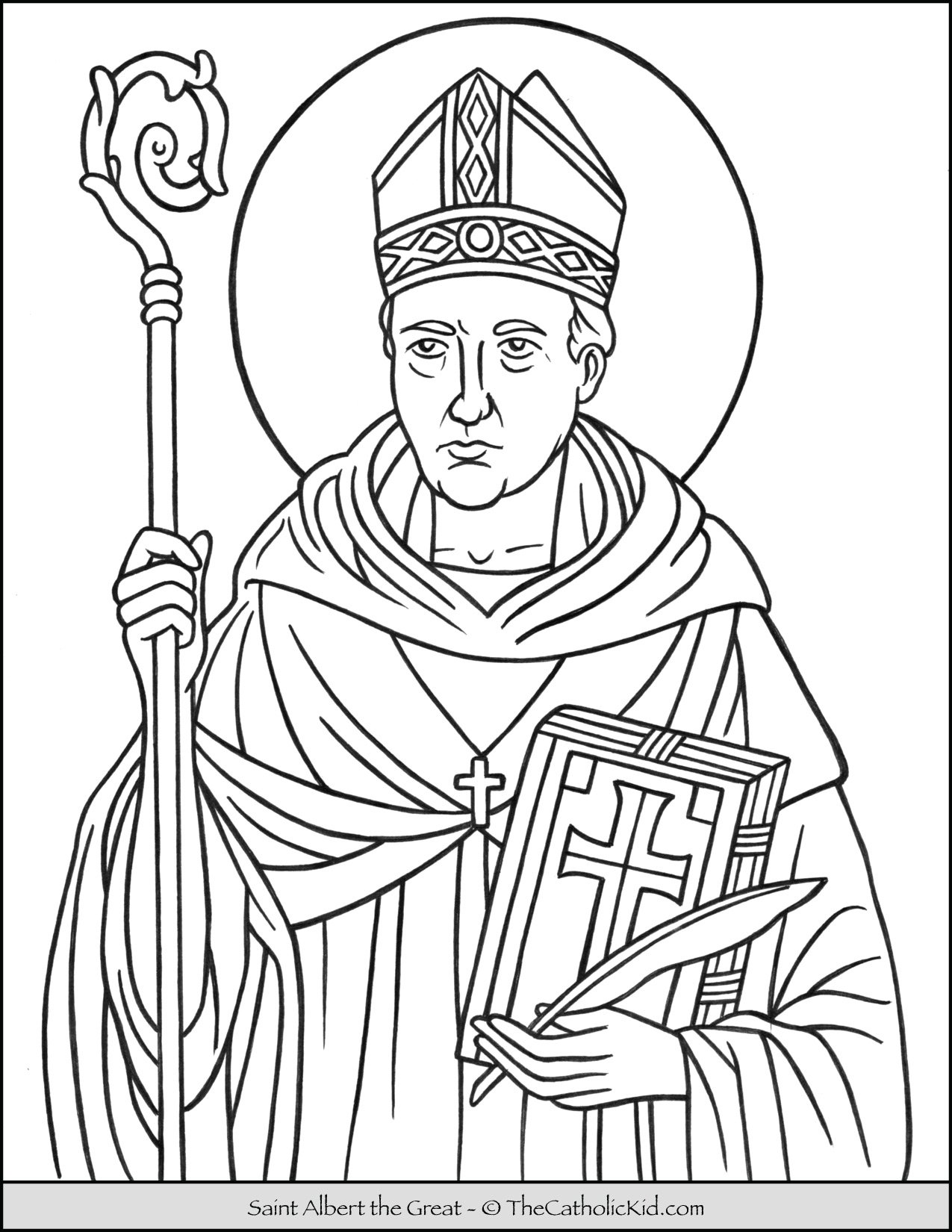 Saint Albert the Great Coloring Page