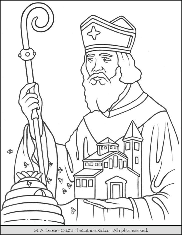 Saint Ambrose Coloring Page