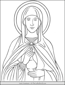 Saint Anastasia Coloring Page