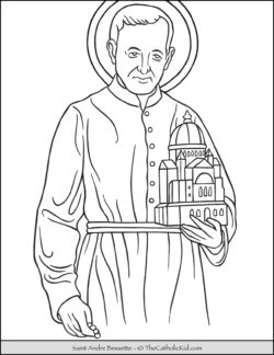 Saint Andre Bessette Coloring Page