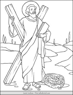 Saint Andrew Coloring Page