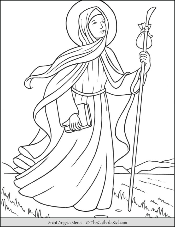 Saint Angela Merici Coloring Page