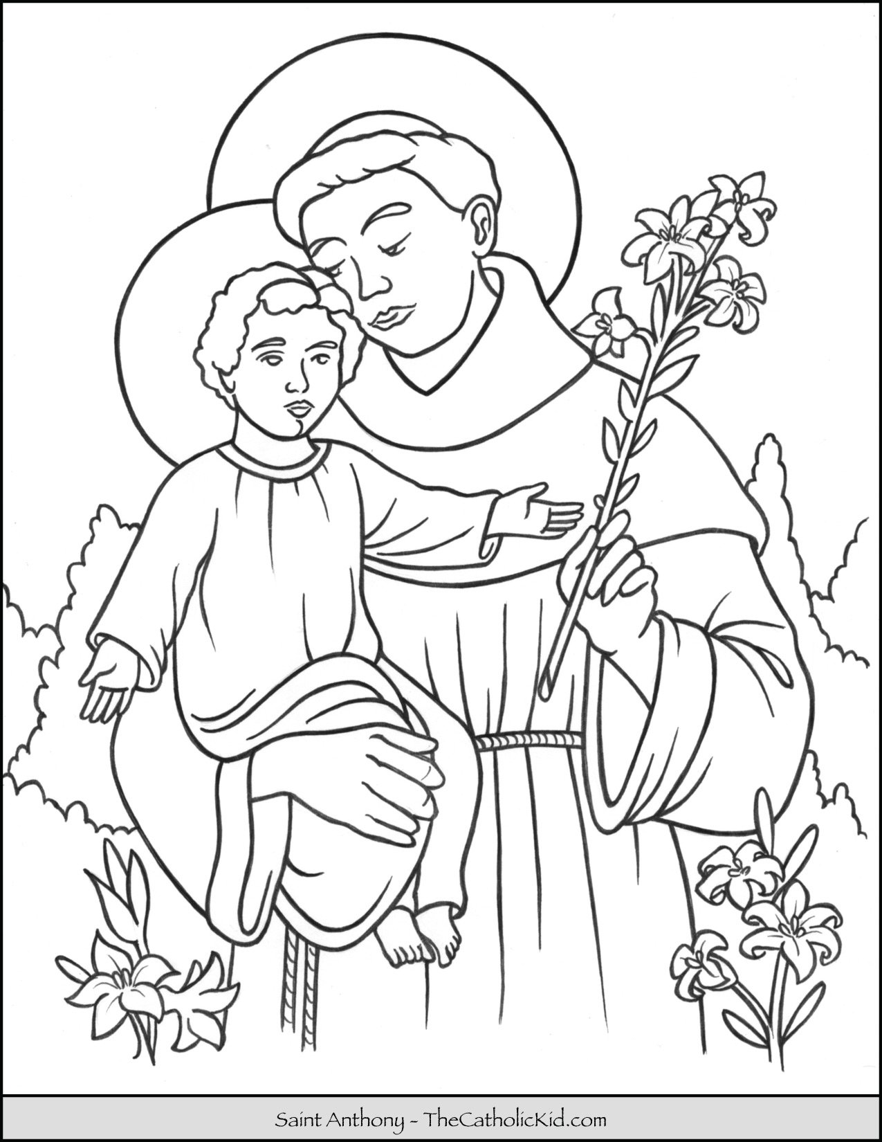 Saint Anthony Coloring Page