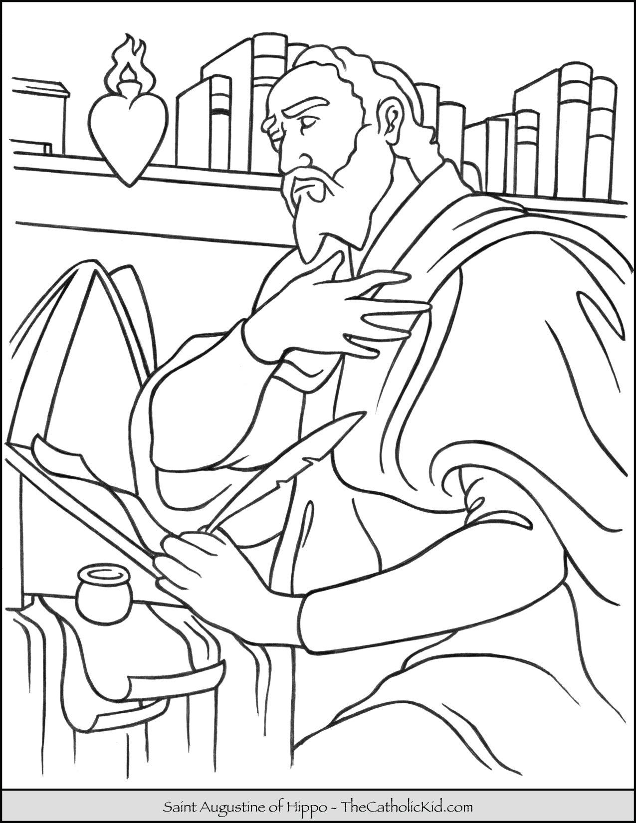 Saint Augustine Coloring Page