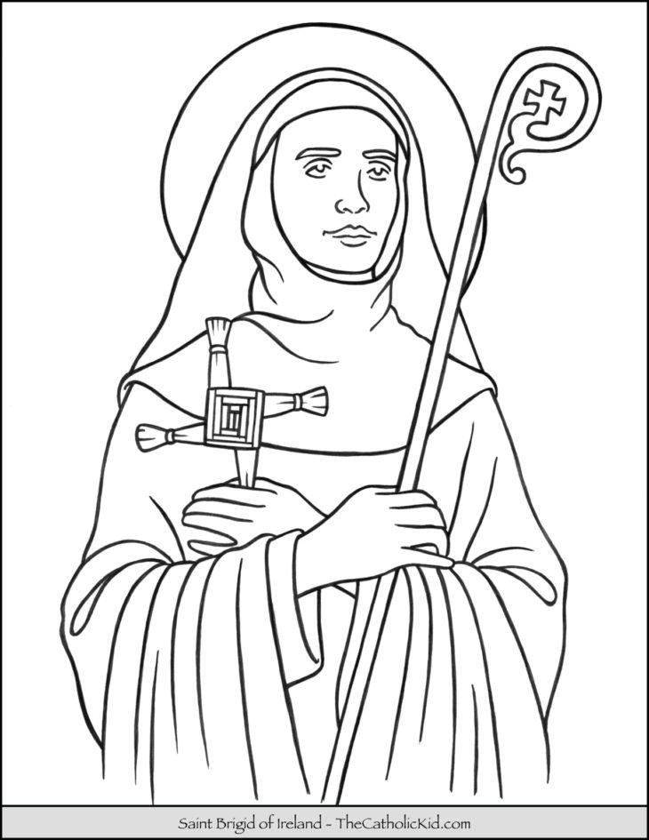 Saint Brigid of Ireland Coloring Page