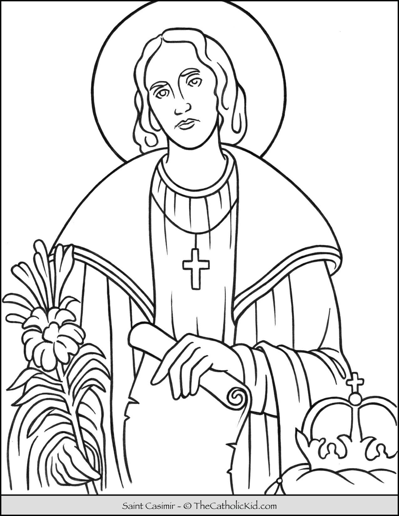 Saint Casimir Coloring Page