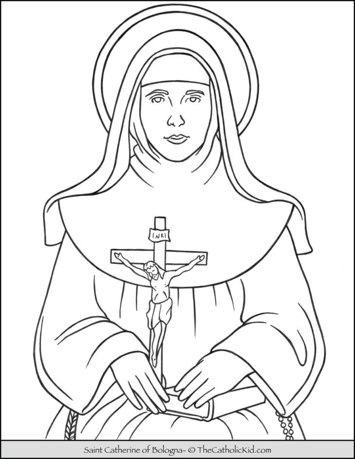 Saint Catherine of Bologna Coloring Page