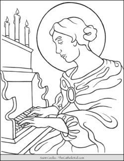 Saint Cecilia Coloring Page