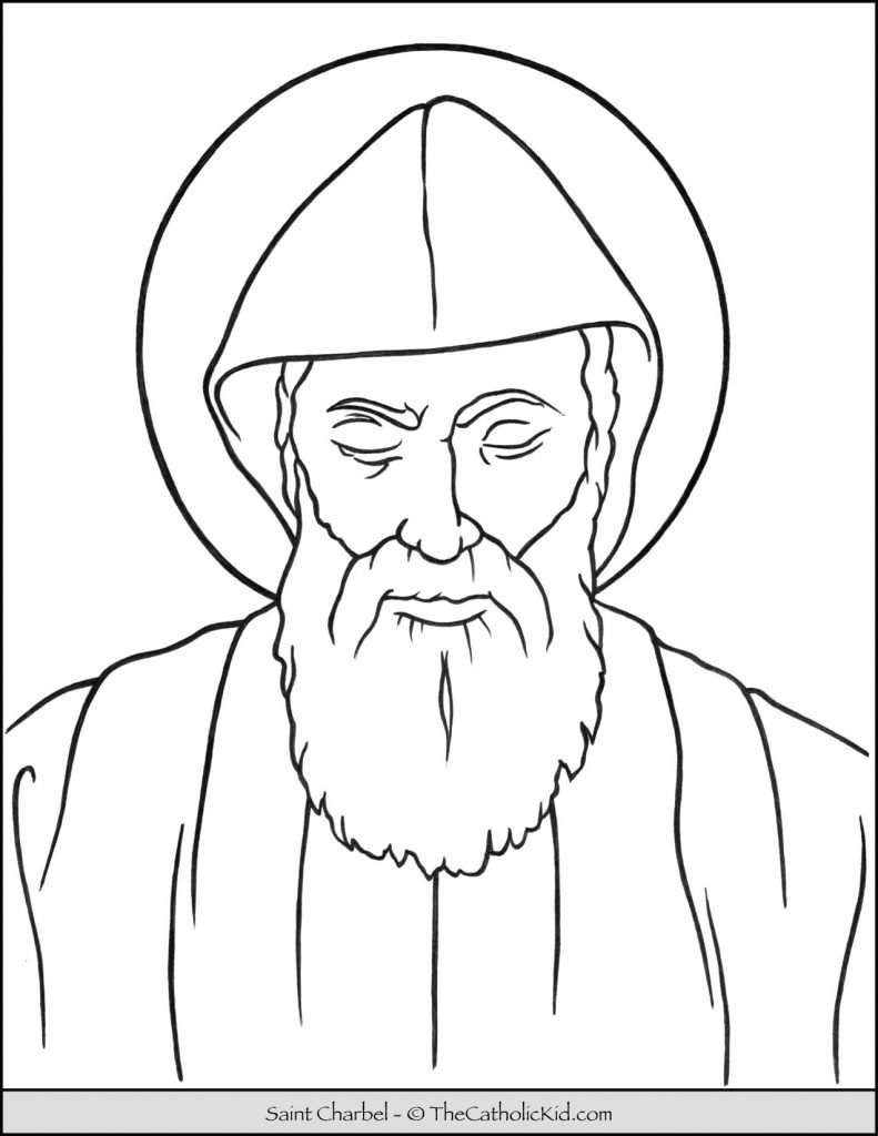 Saint Charbel Coloring Page