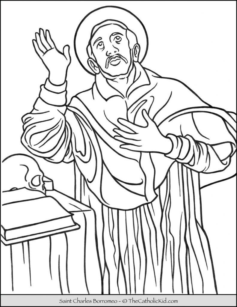 Saint Charles Borromeo Coloring Page